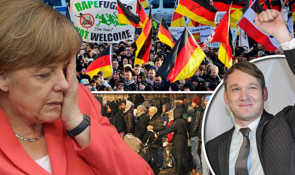 Angela Merkel looking unhappy