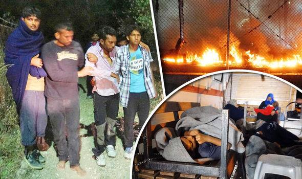 Los disturbios estallaron en un campamento de inmigrantes en Lesbos