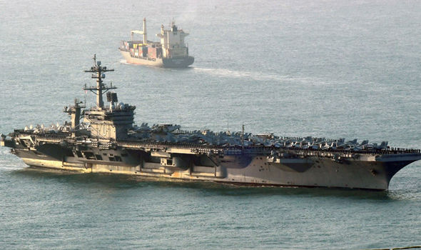 A US Navy strike group has been sent to the Korean peninsula