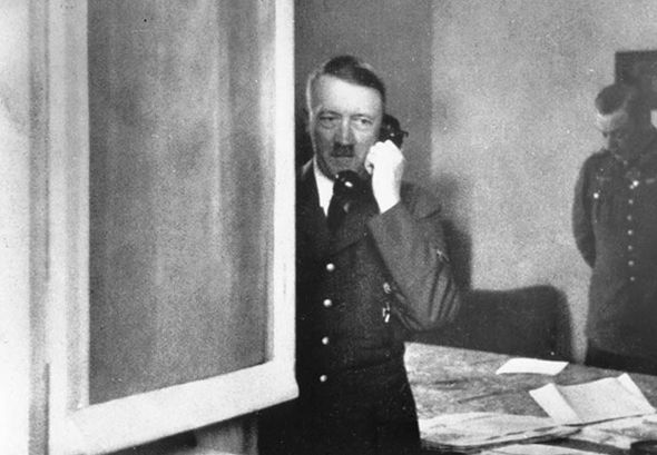 Adolf Hitler on the phone