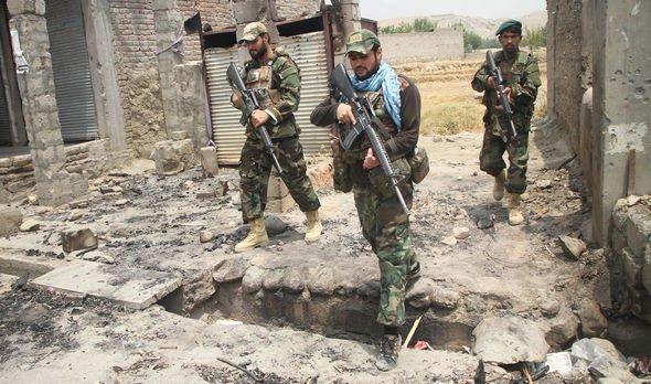 Afghan security force members