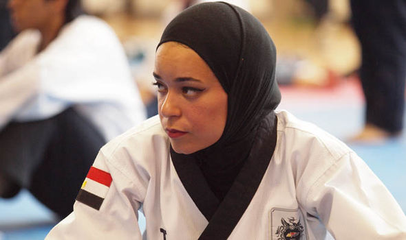 Athlete in hijab