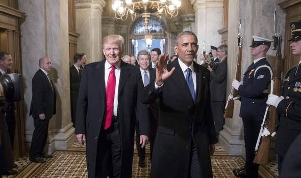 Barack Obama meets with Donald Trump