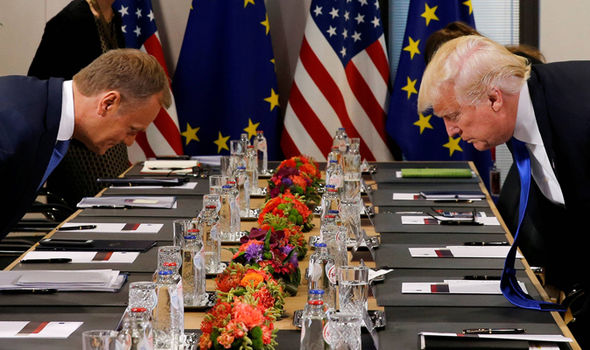 Donald Trump and Donald Tusk: Meetings in Brussels