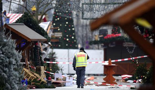 Police in Berlin Christmas market