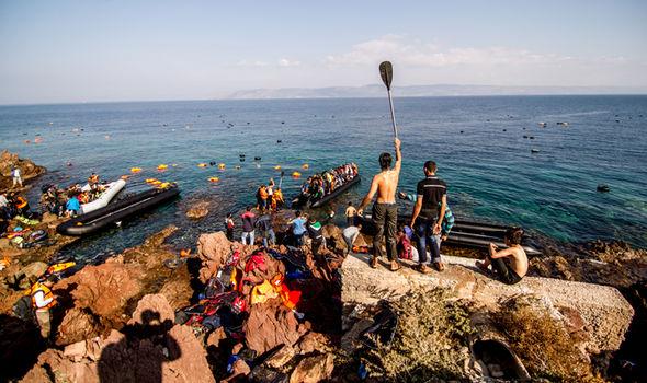 Migrants arrive in the EU