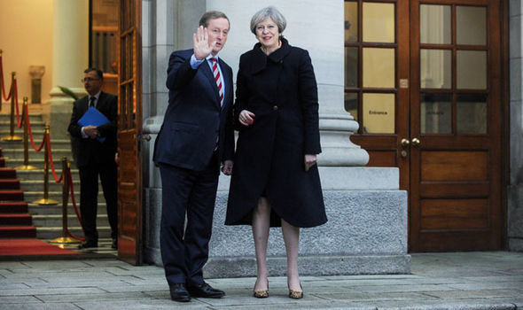 Enda Kenny and Theresa May