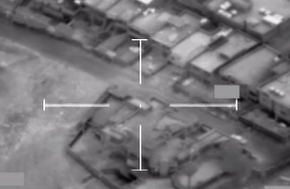 British pilots locked the jihadi HQ with precision