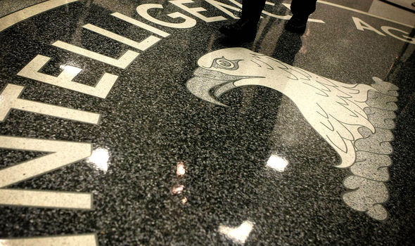 CIA logo on floor of headquarters