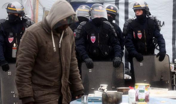 migrantes Calais