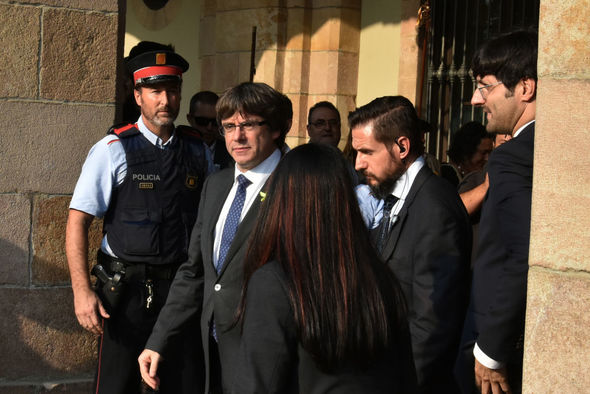 Mr Puigdemont faces 30 years in prison for his pro-independence actions