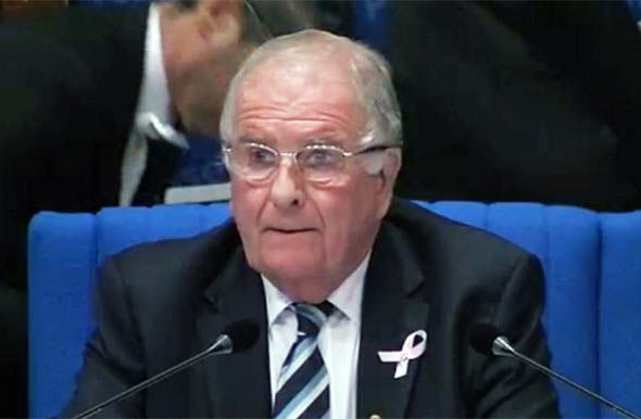 Sir Roger Gale spoke out over Spanish police