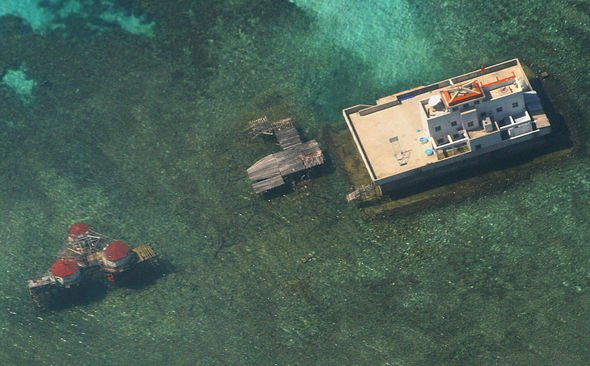 China has built bunkers on some atolls