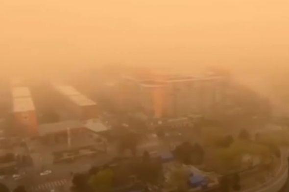 China news Beijing sandstorm latest video