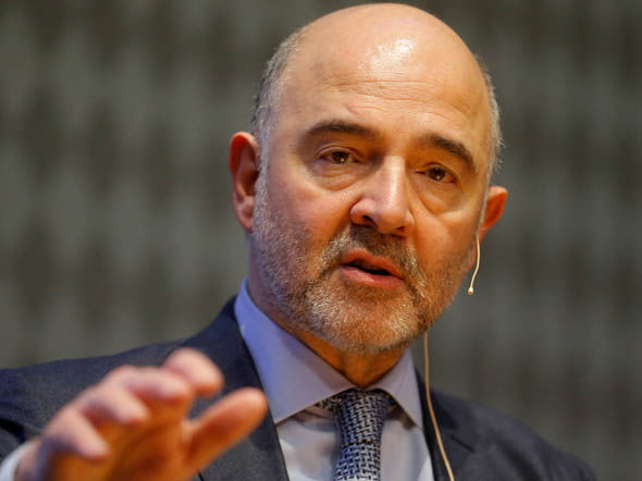 Pierre Moscovici speaking to bankers in Vienna