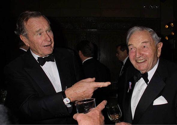 David Bilderberg with president George Bush