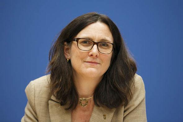 Cecilia Malmstrom smiling