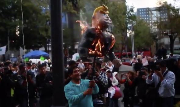 Donald Trump protest in Mexico