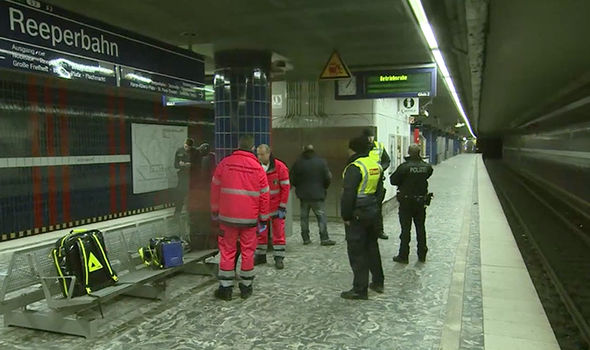 Emergency services at train station