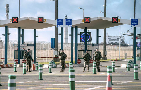 French border control at Calais