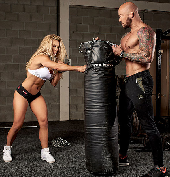 Evelien and husband Kevin train together
