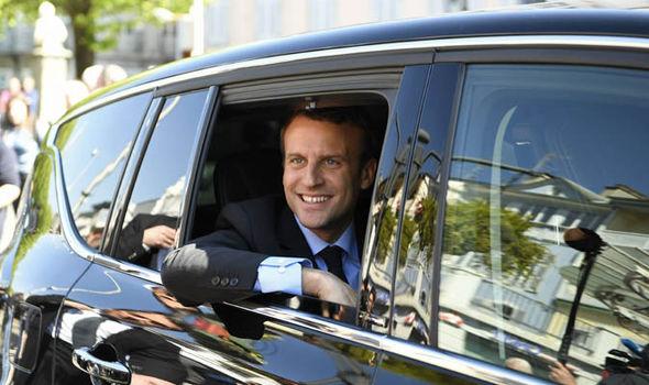 Emmanuel Macron is racing ahead in the polls