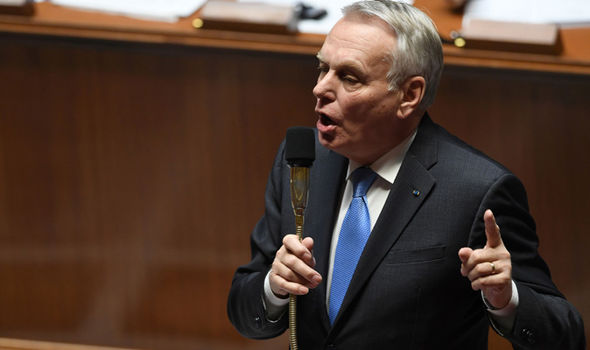 Foreign minister Jean-Marc Ayrault delivered the warning in parliament