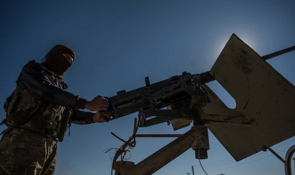 Free Syrian Army forces fighting ISIS