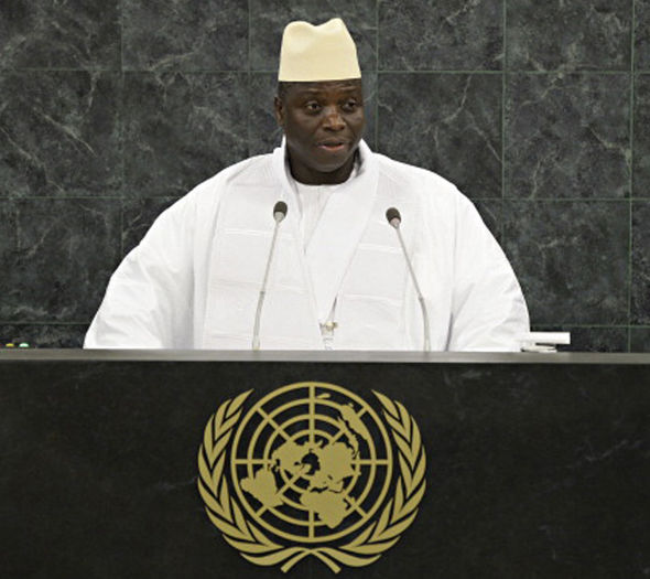 Gambia president refused to hand over his power