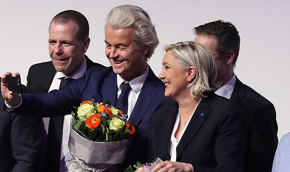 Geert Wilders and Marine Le Pen