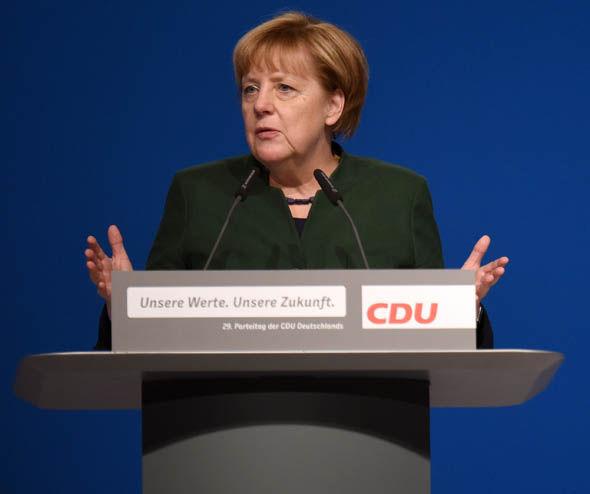 Angela Merkel, the German leader
