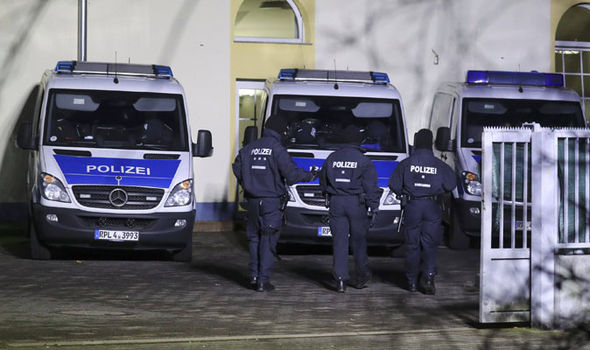 Anti-terror officers in Germany