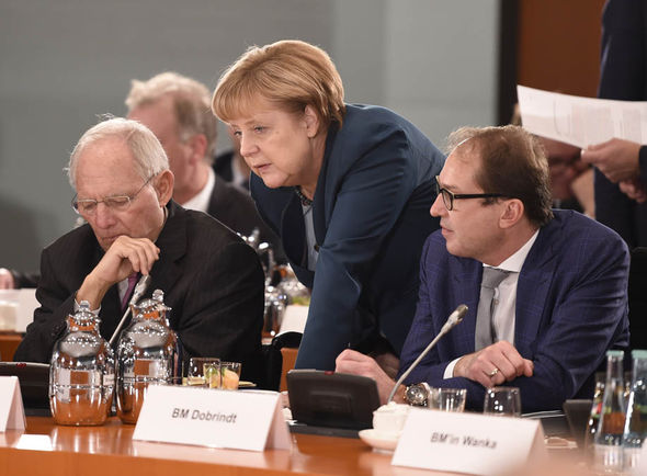 Wolfgang Schäuble and Angela Merkel