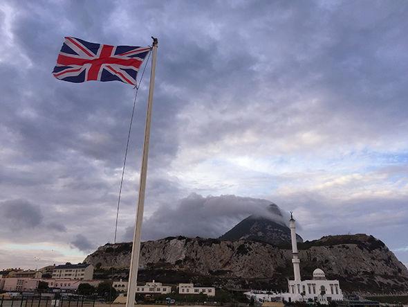 Uk flag flying in Gibraltar