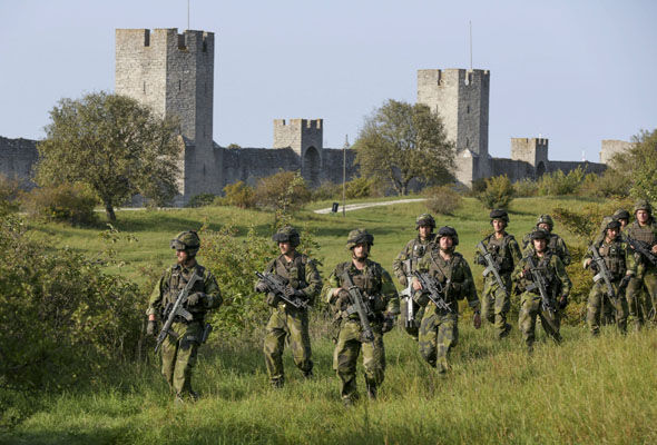 Swedish troops have been deployed to Gotland where the bunkers will be inspected