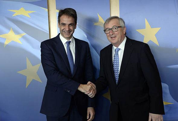 KyriakosMitsotakis and Jean Claude Juncker