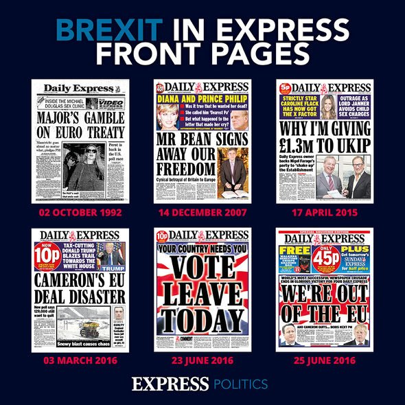 How Brexit was covered by the Daily Express