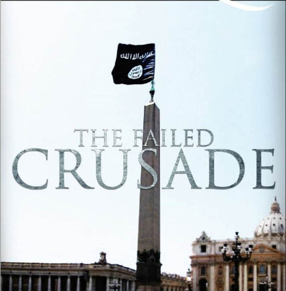 The cover of the ISIS propaganda magazine