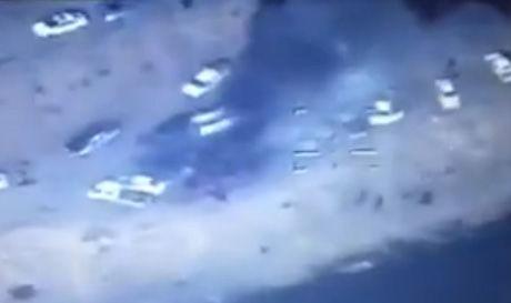 Isis militants flee