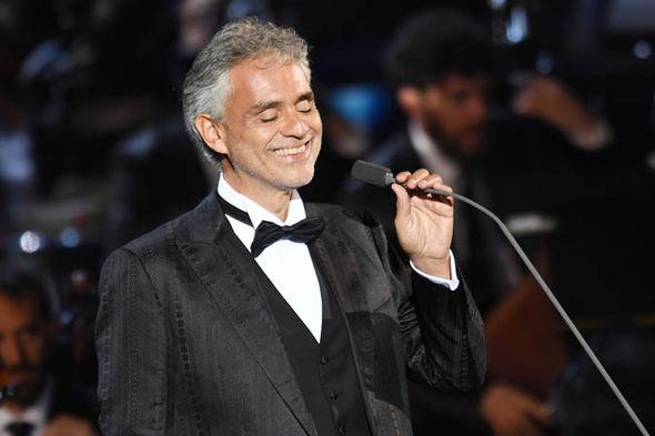 Italian tenor Andrea Bocelli