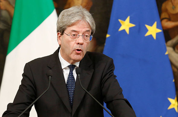 Italy's Prime Minster Paolo Gentiloni