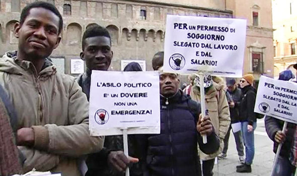 Image result for refugees invade italy