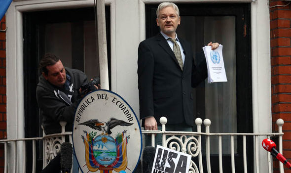 Julian Assange in Ecuador embassy