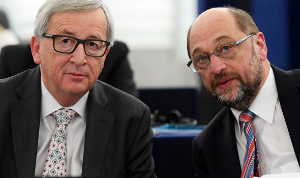 Jean-Claude Juncker and Martin Schulz