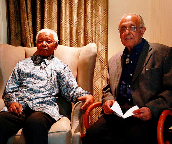 Kathrada, right, was a close friend of Mandela's until his death