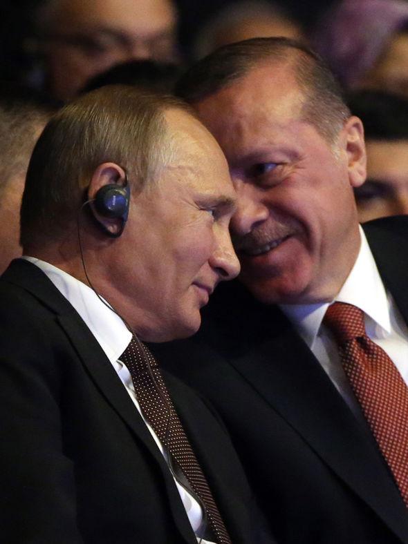Reep Tayyip Erdogan and Vladimir Putin