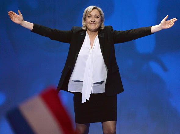 Marine Le Pen campaigning