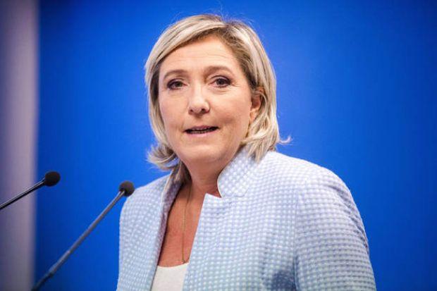Marine Le Pen speaking