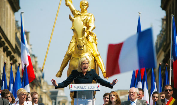 Marine le Pen Angela Merkel EU