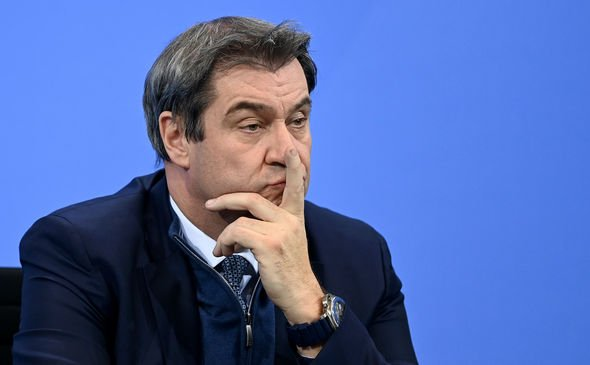 Markus Söder: The potential German Chancellor hopeful warned the EU of lagging behind the UK